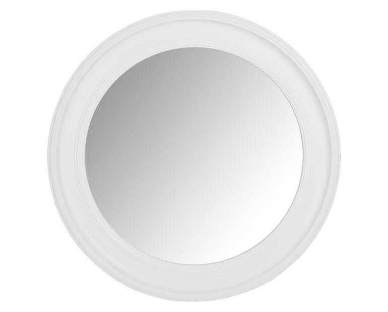Made To Order Furniture – Alena Large Round White Mirror | Laura With Round White Mirrors (#9 of 30)