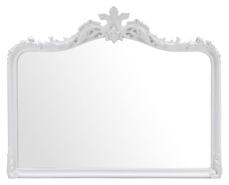 Made To Order Furniture – Patricia White Overmantel Mirror | Laura With White Overmantle Mirrors (#11 of 30)