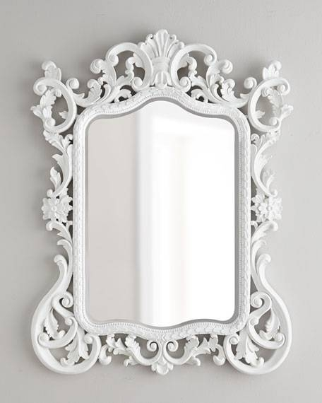 Madeline Baroque Mirror Pertaining To Baroque White Mirrors (#13 of 20)
