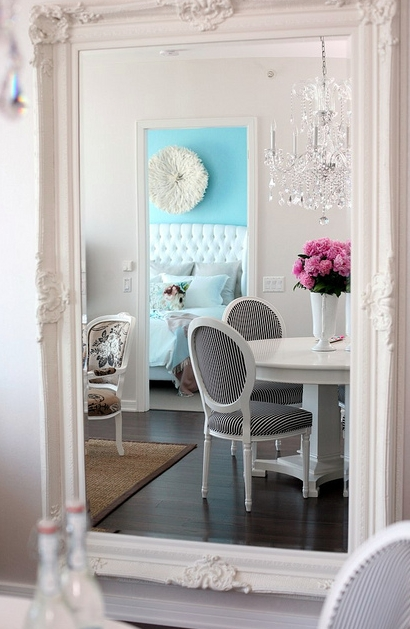 Madeline White Baroque Mirror In White Baroque Mirrors (#14 of 20)