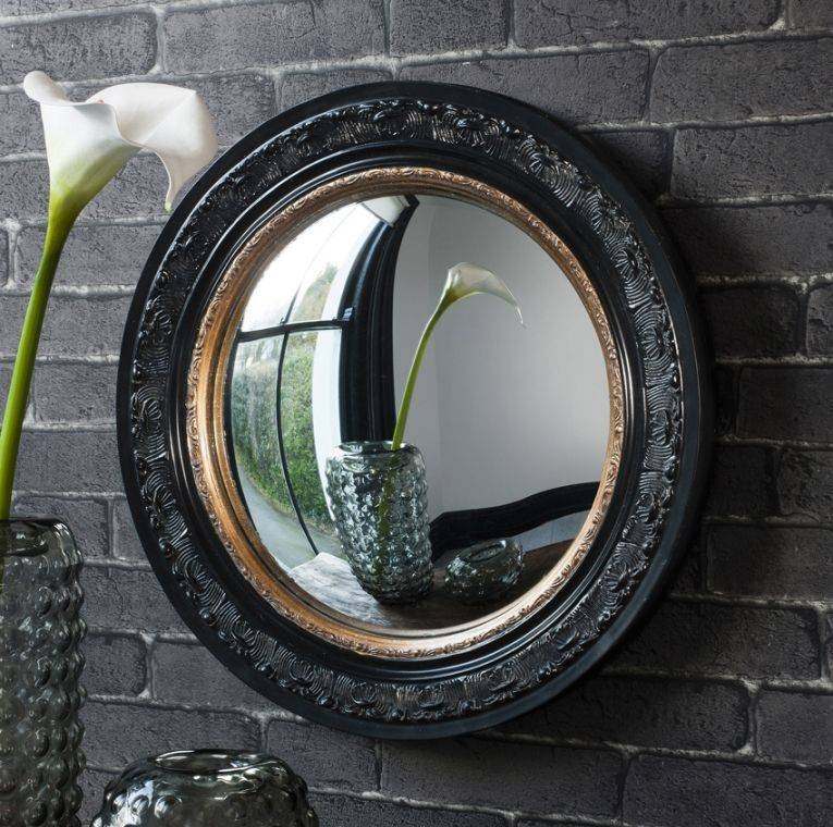 Madmoiselle Boutique Black Convex Mirror Intended For Black Convex Mirrors (#12 of 20)
