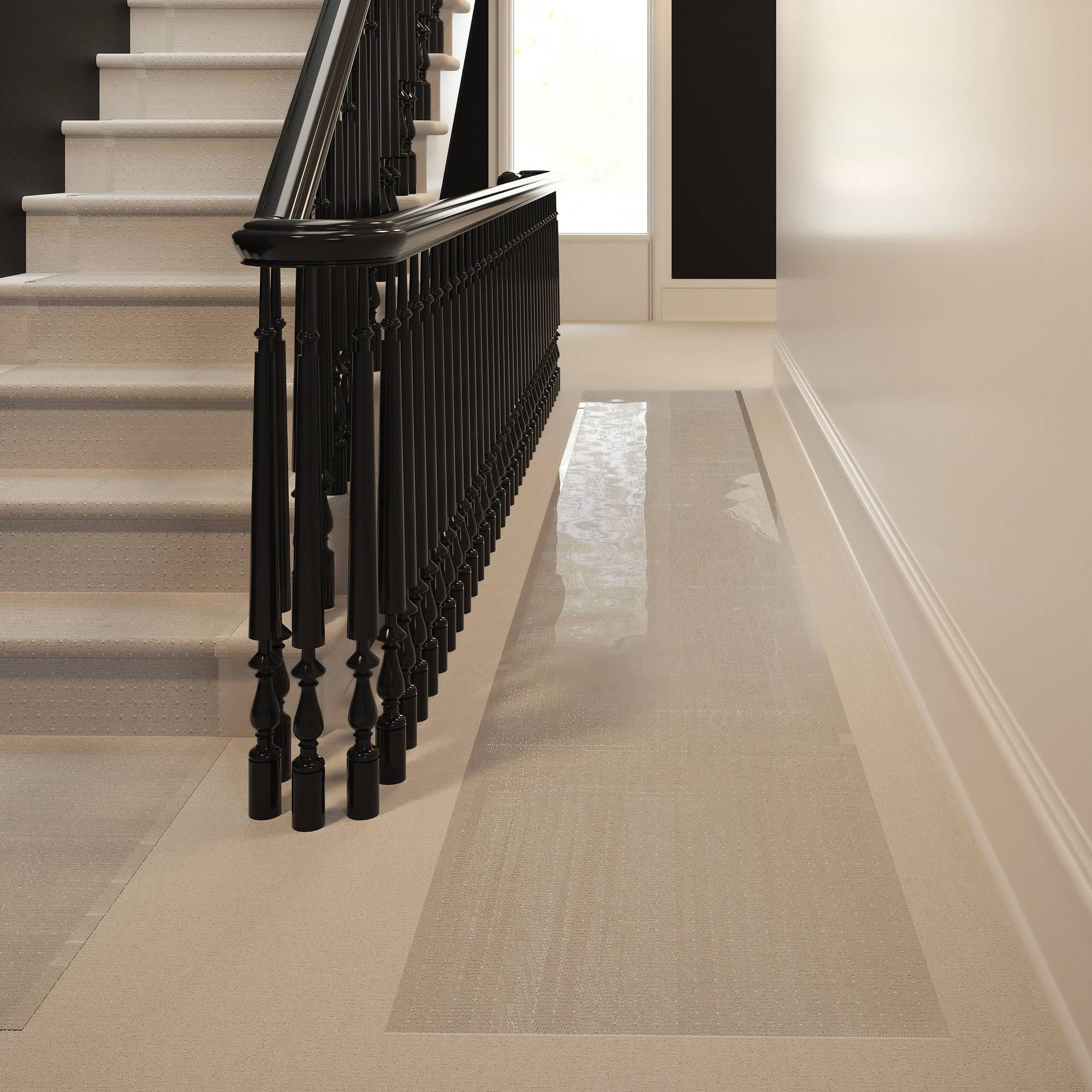 Mainstays Low Pile Carpet Vinyl Runner Clear 2 X 12 Walmart Inside Clear Stair Tread Carpet Protectors (#13 of 20)