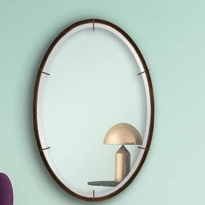 Majestic Mirror Fancy Oval Beveled Glass Wall Mirror | Wayfair Throughout Oval Bevelled Mirrors (#18 of 30)