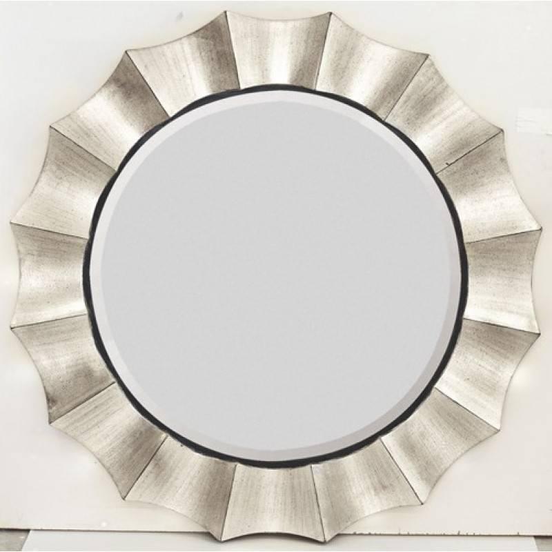 Majestic Mirrors Scalloped Edge Round Mirror Cm 1705 B Within Round Mirrors (View 29 of 30)