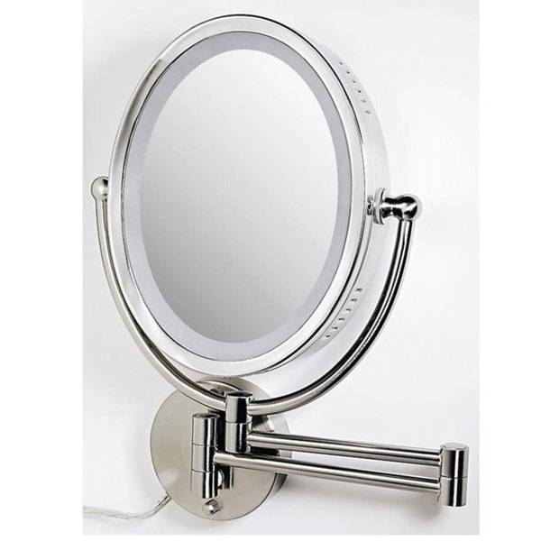 Makeup Mirror With Lights Wall Mounted – Pinotharvest Inside Wall Light Mirrors (#18 of 30)