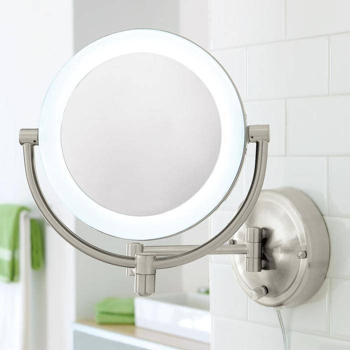 Makeup Mirror With Lights Wall Mounted – Pinotharvest Regarding Wall Light Mirrors (#19 of 30)