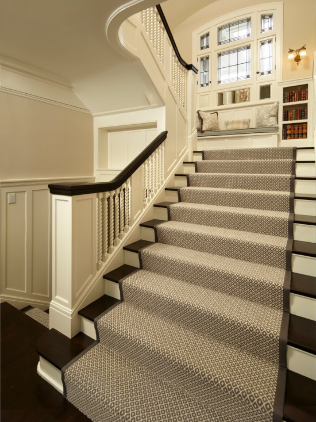 Captivating Inspiration About Making Stairs Safe Regarding Grey Carpet Stair Treads  (#18 Of 20)