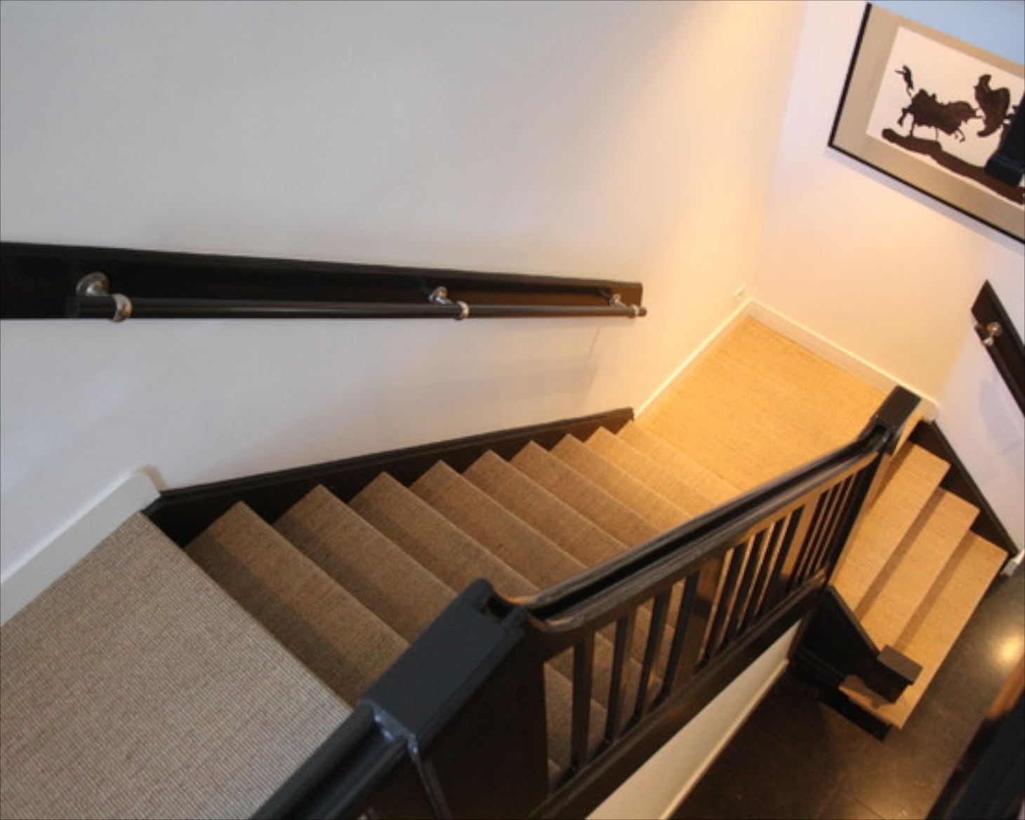 Making Stairs Safe Throughout Modern Stair Tread Rugs (#10 of 20)