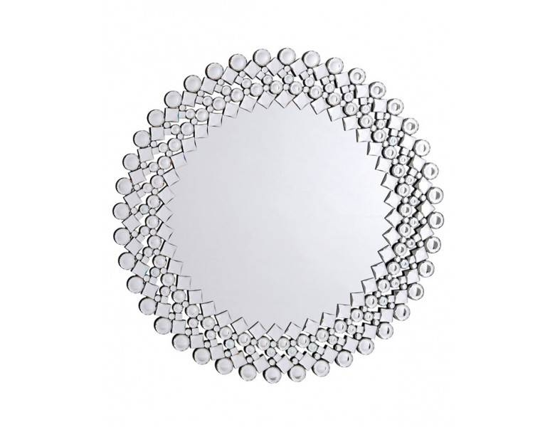 Malina Modern Silver Wall Mirror Regarding Wall Mirrors With Crystals (#16 of 20)