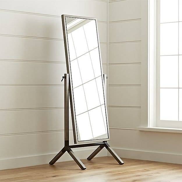 Malvern Cheval Floor Mirror | Crate And Barrel Regarding Cheval Freestanding Mirrors (#27 of 30)