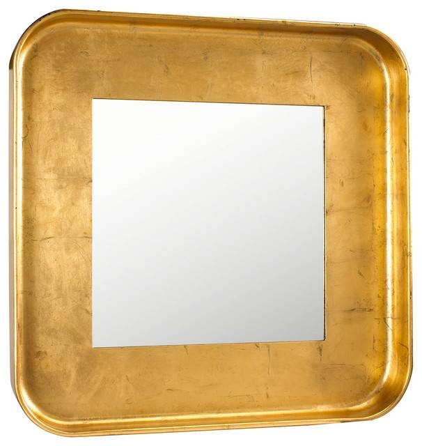 Marant French Modern Silver Leaf Round Square Mirror Pertaining To Gold Round Mirrors (View 7 of 20)