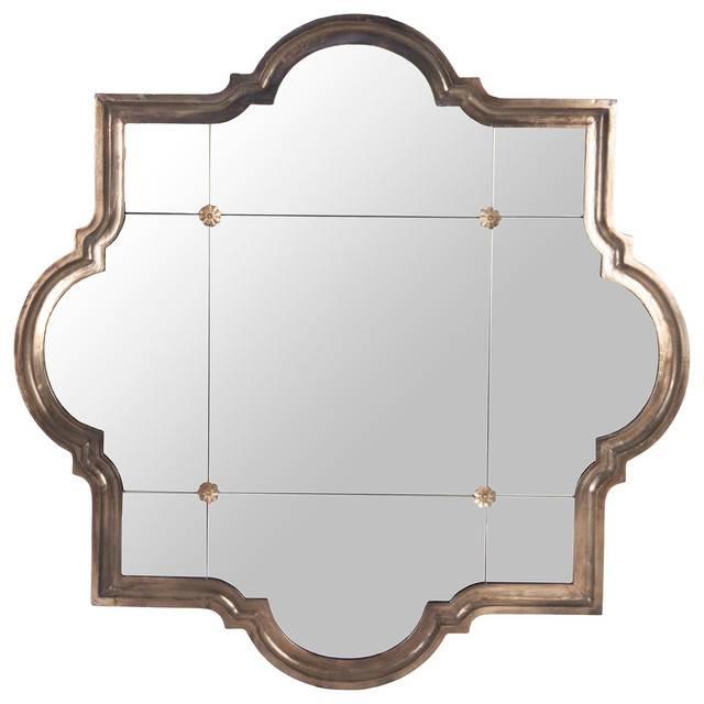 Marissa Quatrefoil Antique Bronze Large Mirror – Transitional Inside Large Bronze Mirrors (View 6 of 30)