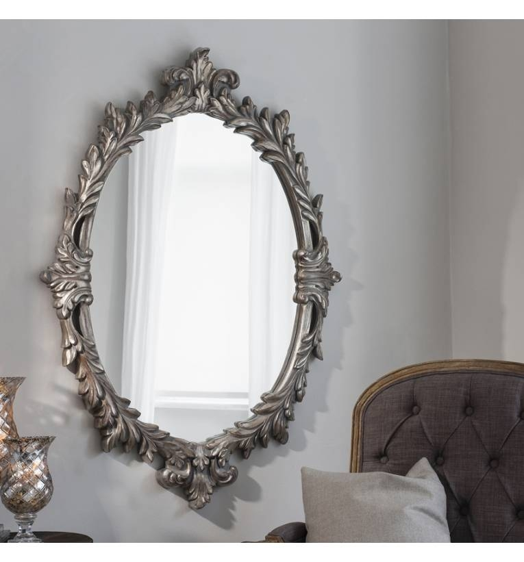 Marland 50X 35 Silver Mirror Marland 50X 35 Silver Mirror – Grand For Modern Silver Mirrors (#14 of 20)