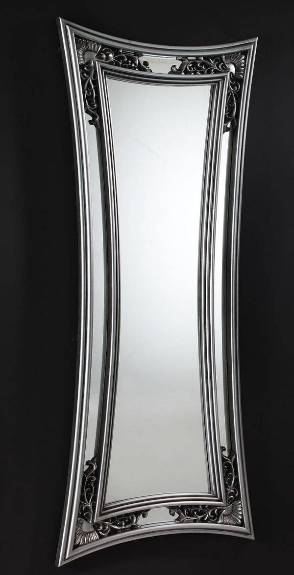 Marte Contemporary Long Mirror In Silver In Long Silver Mirrors (#21 of 30)