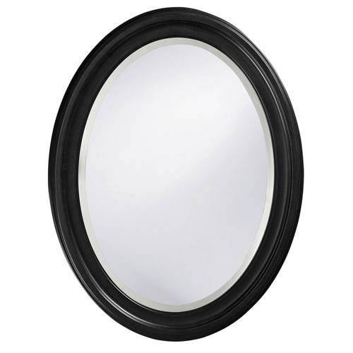 Matte Oval Mirror | Bellacor Regarding Oval Black Mirrors (#11 of 20)