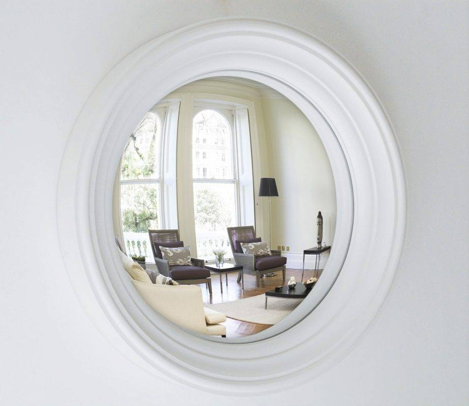 Medium Lucca Convex Mirror | Hand Finished To Order | Omelo Within White Convex Mirrors (#18 of 30)