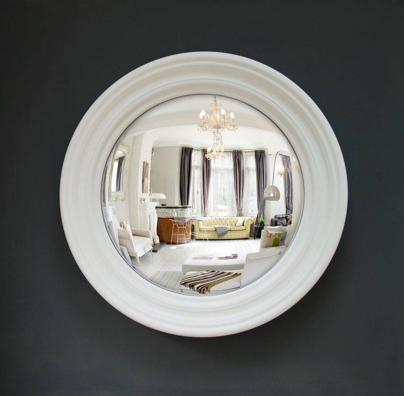 Medium Roma Convex Mirror | Bespoke Colours Available | Omelo Inside White Convex Mirrors (#19 of 30)