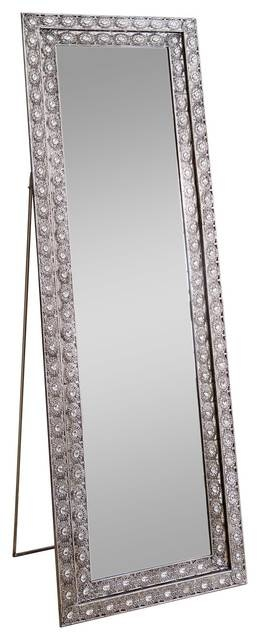 Melania Floor Mirror – Traditional – Floor Mirrors  Abbyson Living Intended For Bling Floor Mirrors (#21 of 30)