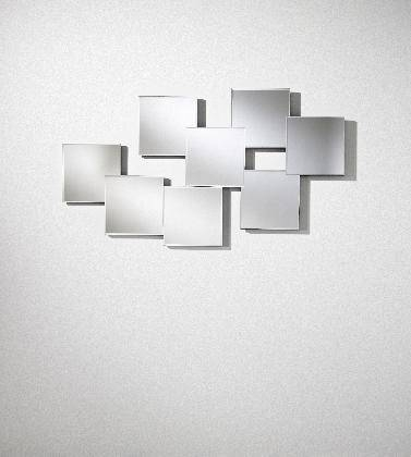 Memo Multi Square Feature Bevelled Frameless Wall Mirror Within Square Frameless Mirrors (#21 of 30)