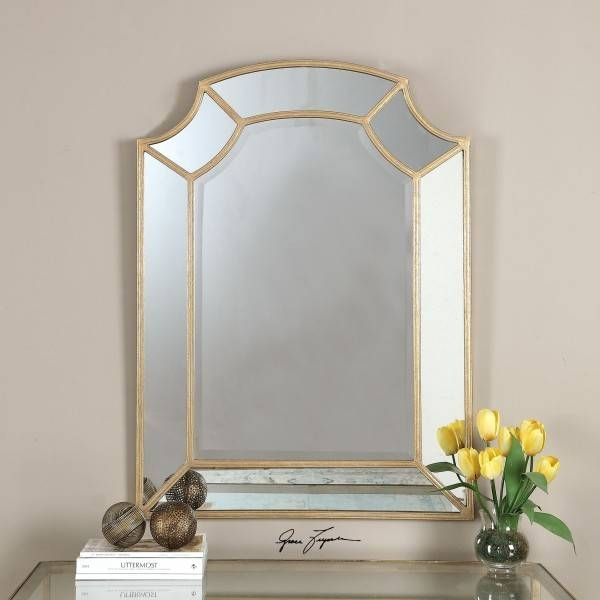 Mere Designs | Francoli Gold Arch Mirror With Regard To Gold Arch Mirrors (#17 of 20)