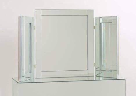 Merlin Silver Triple Dressing Table Mirror Inside Silver Dressing Table Mirrors (#12 of 20)