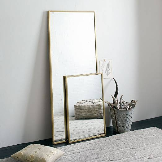 Metal Framed Floor Mirror | West Elm Inside Iron Framed Mirrors (#12 of 20)