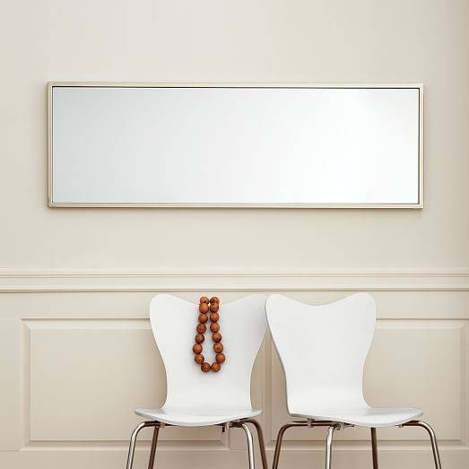 Metal Framed Landscape Mirror | West Elm Within Landscape Wall Mirrors (#13 of 30)