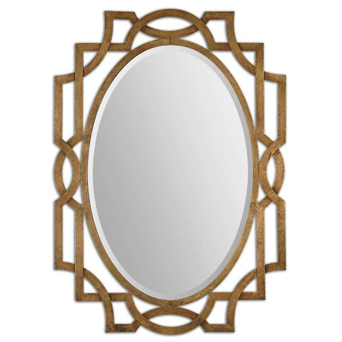 Metal Framed Oval Mirror For Elaborate Mirrors (#30 of 30)