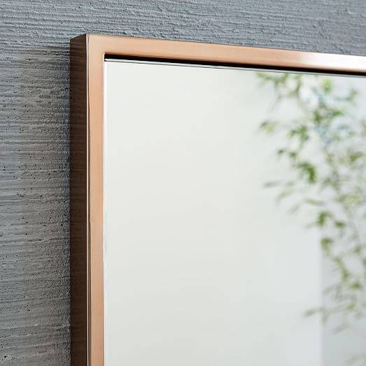 Metal Framed Wall Mirror   West Elm Intended For Slim Wall Mirrors (View 23 of 30)
