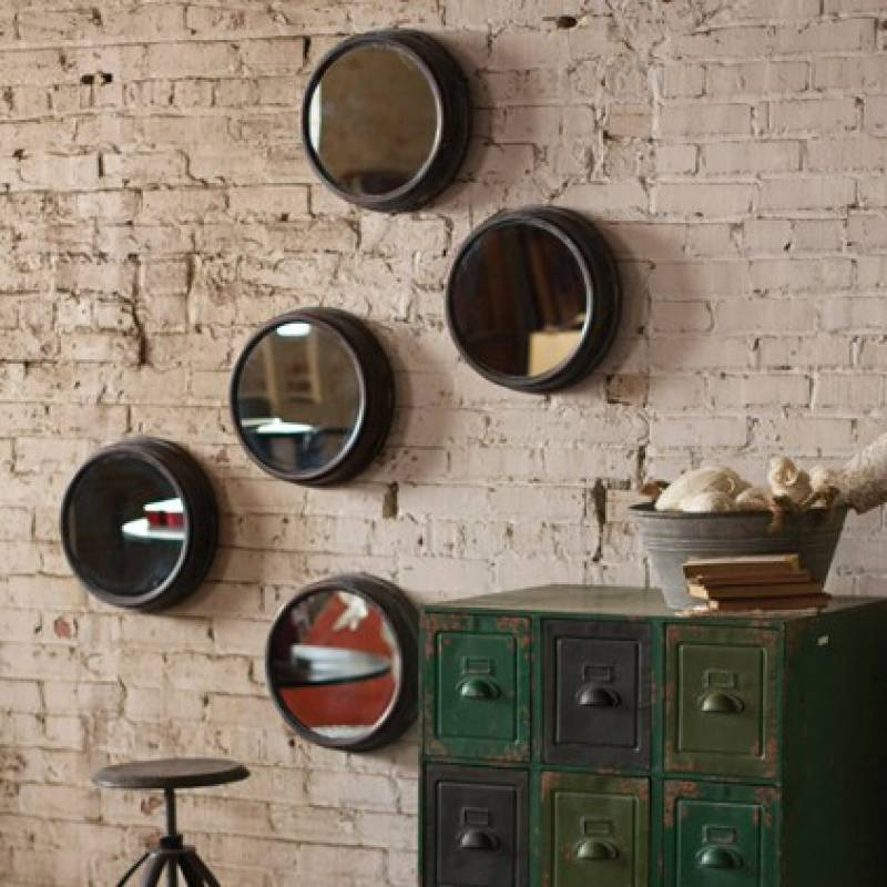 Metal Vintage Style Porthole Mirror | A Cottage In The City Throughout Porthole Mirrors (View 16 of 30)