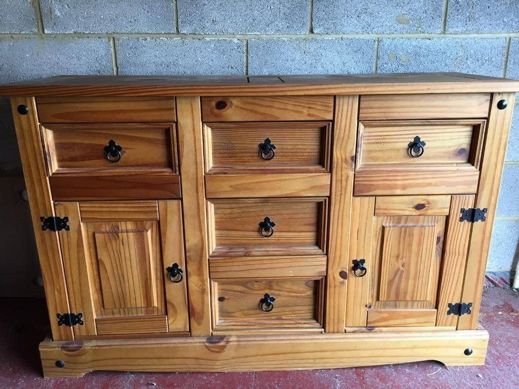 Mexican Pine Large Sideboard | In Pentwyn, Cardiff | Gumtree Pertaining To Mexican Sideboard (#13 of 20)