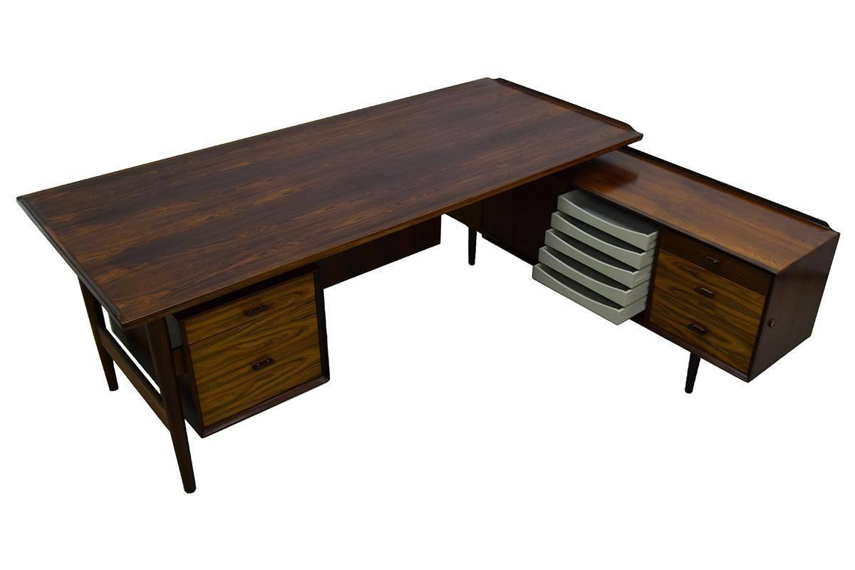 Mid Century Executive Desk & Sideboardarne Vodder For Sibast Regarding Desk Sideboard (#11 of 20)
