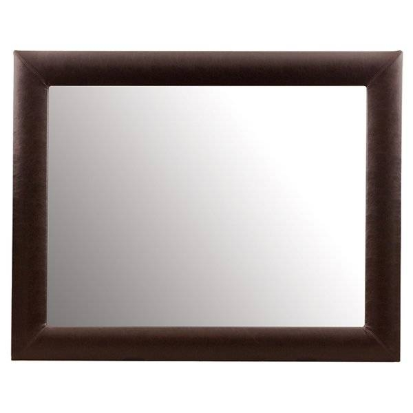 Milanka Leather Wall Mirror | Joss & Main Throughout Leather Wall Mirrors (View 12 of 20)