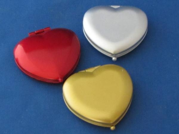 Mini Satin Heart Mirror Red Gold & Silver When Ordering State Colour With Regard To Gold Heart Mirrors (#28 of 30)