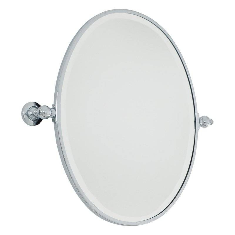 Minka Lavery Oval Wall Mirror & Reviews | Wayfair Inside White Oval Wall Mirrors (#18 of 30)