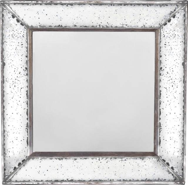 Mirabelle Wall Mirror – Traditional – Wall Mirrors  Fantastic Pertaining To Square Frameless Mirrors (#22 of 30)