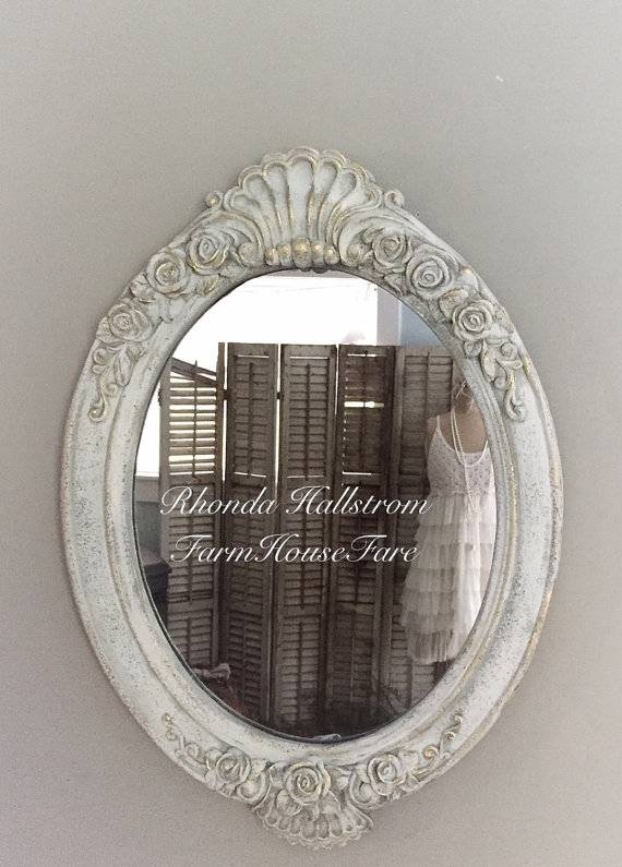Mirror Behind Crib ~ Best Baby Crib Inspiration Intended For Oval Shabby Chic Mirrors (View 9 of 20)