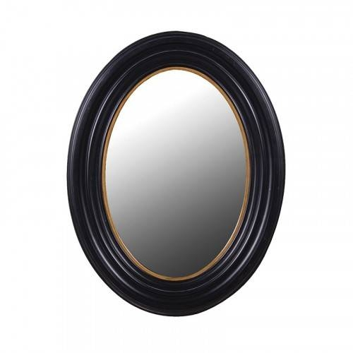 Mirror – Black/gold (Small) In Oval Black Mirrors (#12 of 20)