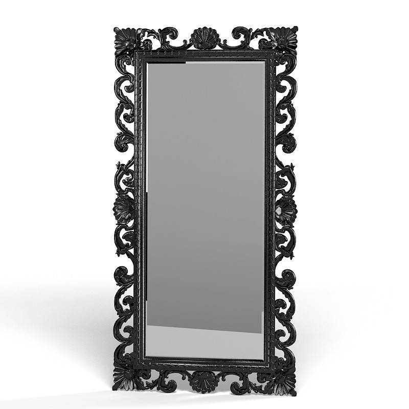 Mirror Classic 3D Max In Baroque Black Mirrors (#14 of 20)