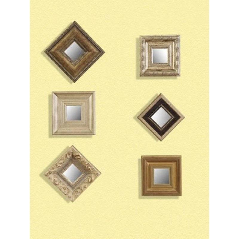 Mirror Company Set Of 6 Decorative Wall Mirrors – Small Bm 6999 898 Intended For Decorative Small Mirrors (#12 of 20)