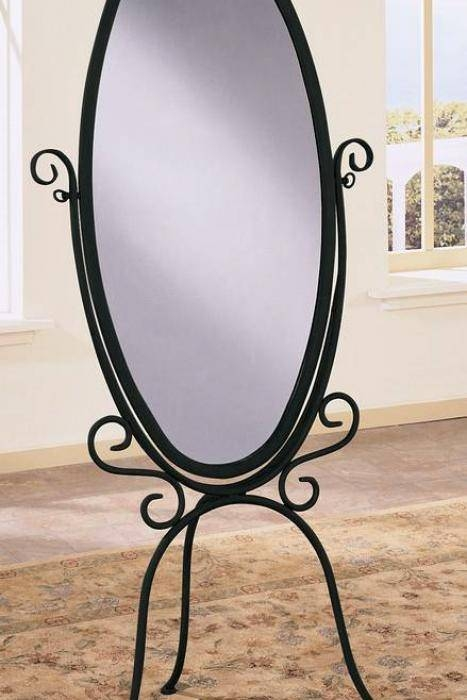 Mirror Floor Standing Within Wrought Iron Mirrors 12 Of