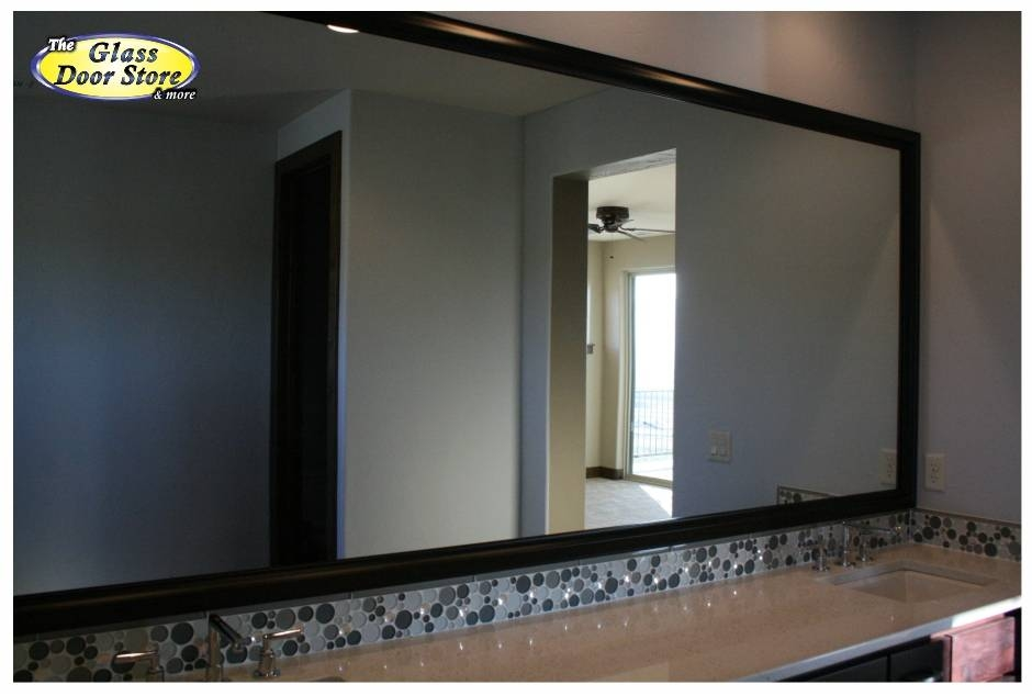 Inspiration about Mirror Frames For The Bathroom Mirror  The Glass Door Store Throughout Large Black Mirrors (#12 of 30)