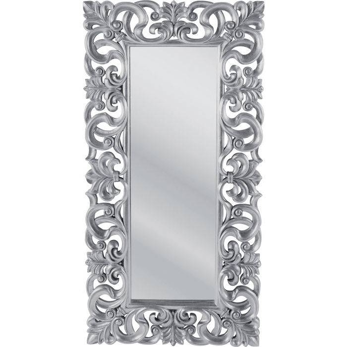 Mirror Italian Baroque Silver 180X90 – Kare Design With Regard To Silver Baroque Mirrors (View 21 of 30)