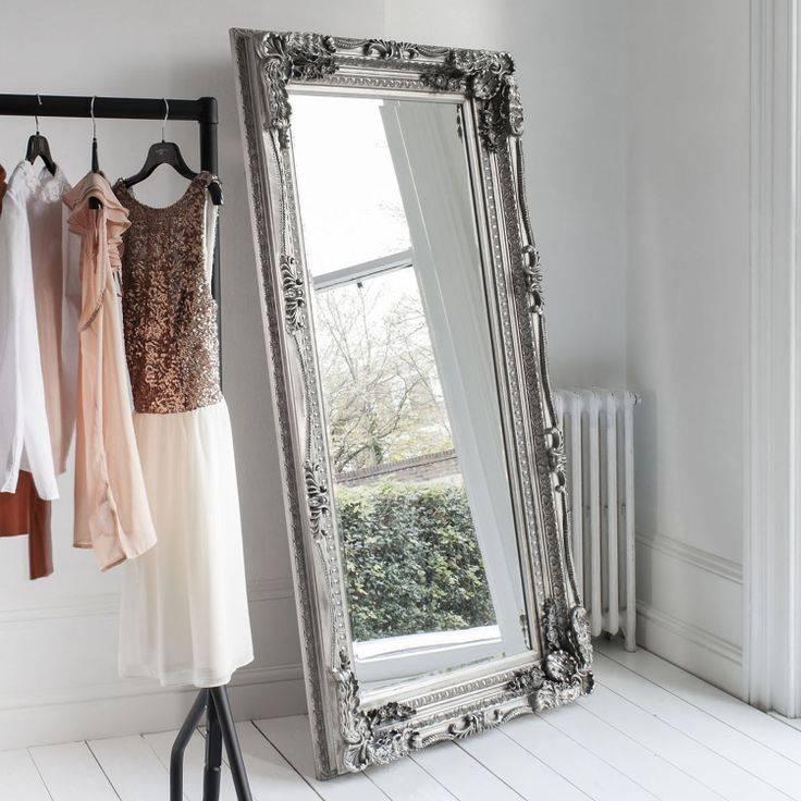 Mirror : Large Floor Mirrors For The Impressive Idea Decorative Inside Big Silver Mirrors (#15 of 20)