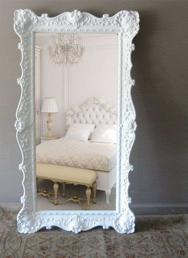 Mirror Large Floor Mirrors With Oversized Mirror And Ornate White Throughout Large Ornate White Mirrors (View 9 of 20)