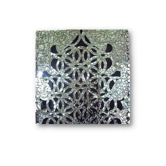 Mirror Mosaic Geometric Art Modern Decor Wall Sculpture For Mosaic Wall Mirrors (#13 of 20)