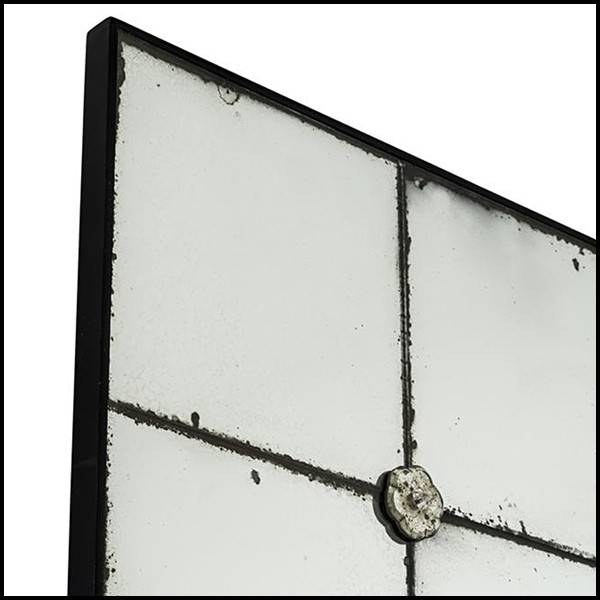 Mirror Rectangular In Antique Mirror Glass With Glasses Flowers 24 For Black Antique Mirrors (#26 of 30)