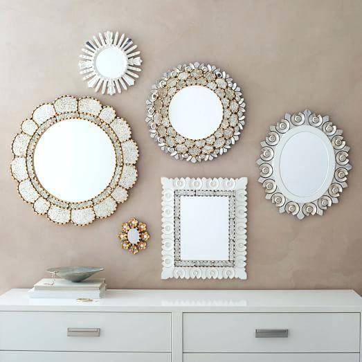 Mirror Wall Gallerysmall Decorative Mirrors Small Uk – Shopwiz Throughout Decorative Small Mirrors (#13 of 20)