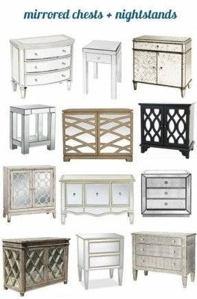 Mirrored Bedside Table – Foter With Bedside Tables Antique Mirrors (View 16 of 20)