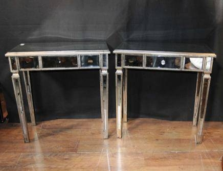 Mirrored Side Tables / Cocktail Table – Mirror Furniture, Art Deco Throughout Occasional Tables Mirrors (#27 of 30)